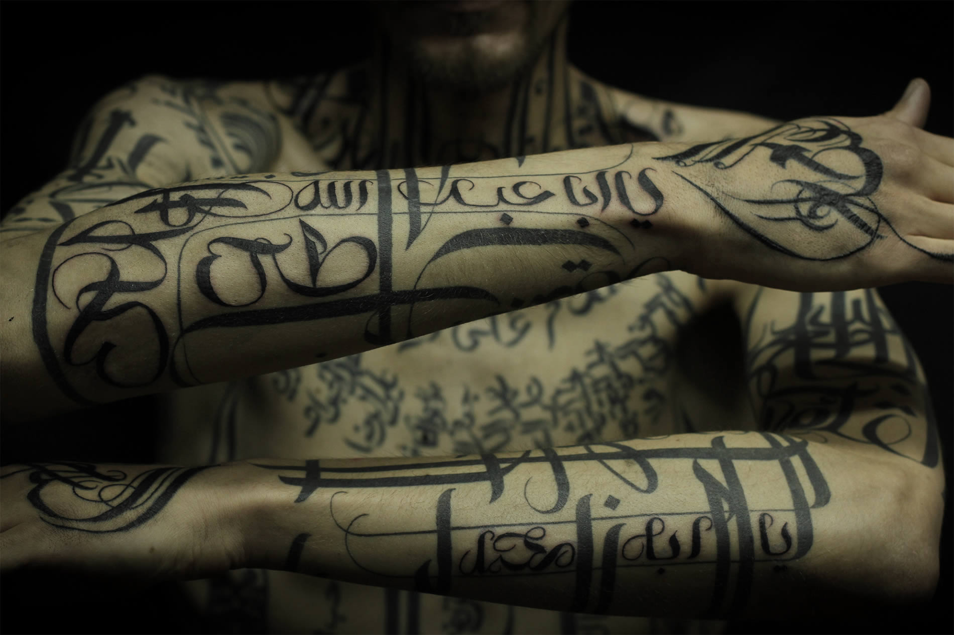 Calligraphy Tattoos by Sadhu Le Serbe