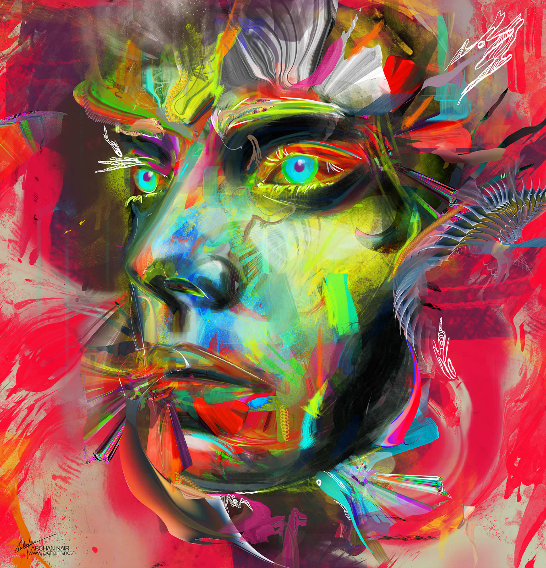 colorful face by archan nair