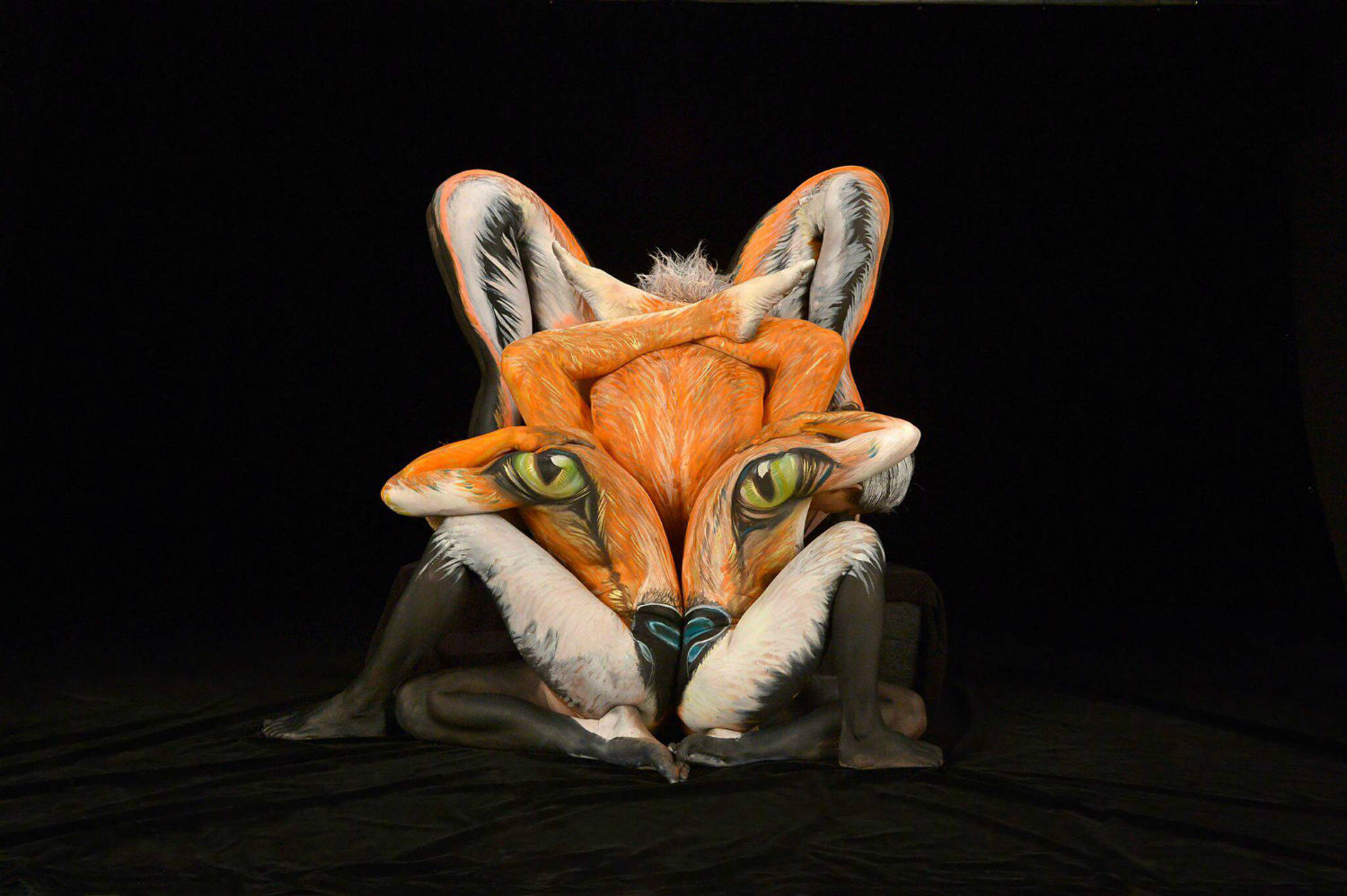 shannon holt body paint animal florida fox