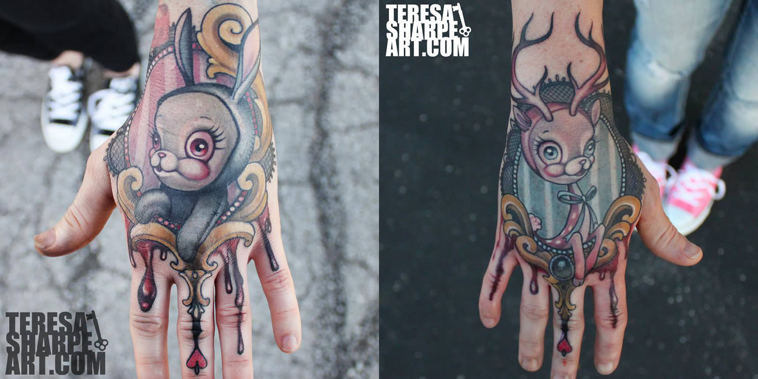 hand tattoo, illustration