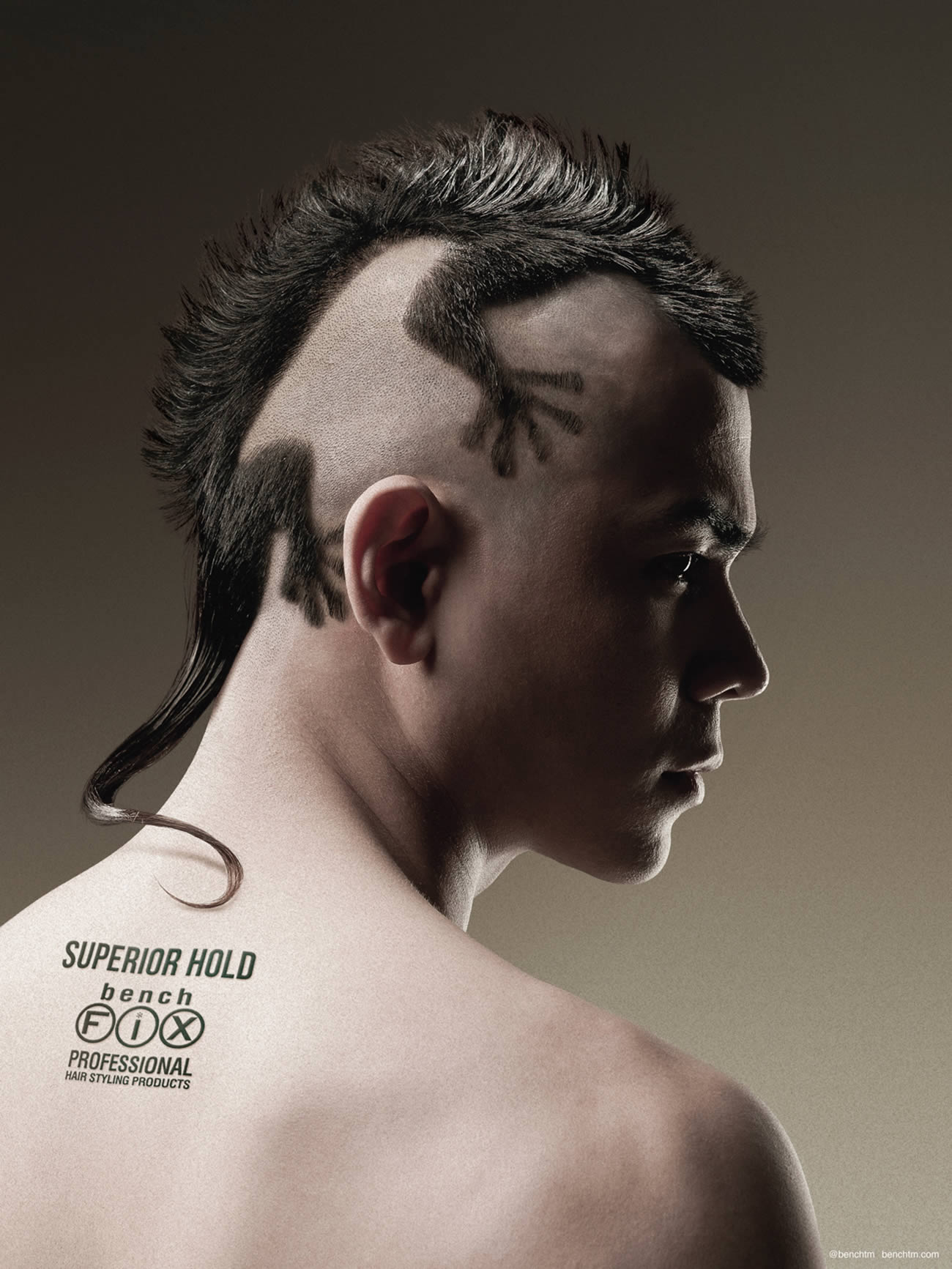 """Bench Fix Hairstyling Products: Gecko,"" by advertising agency TBWA\Santiago Mangada Puno (Philippines). Creative Directors: Melvin Mangada and Marci Reyes."