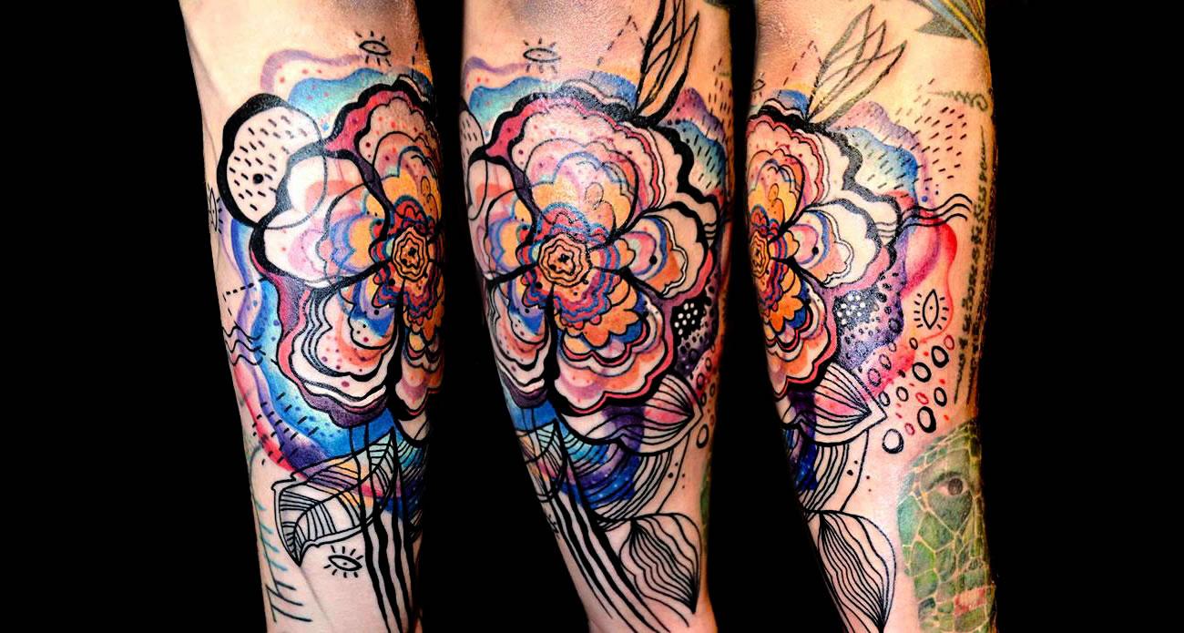 painting tattoo by Petra Hlavackova