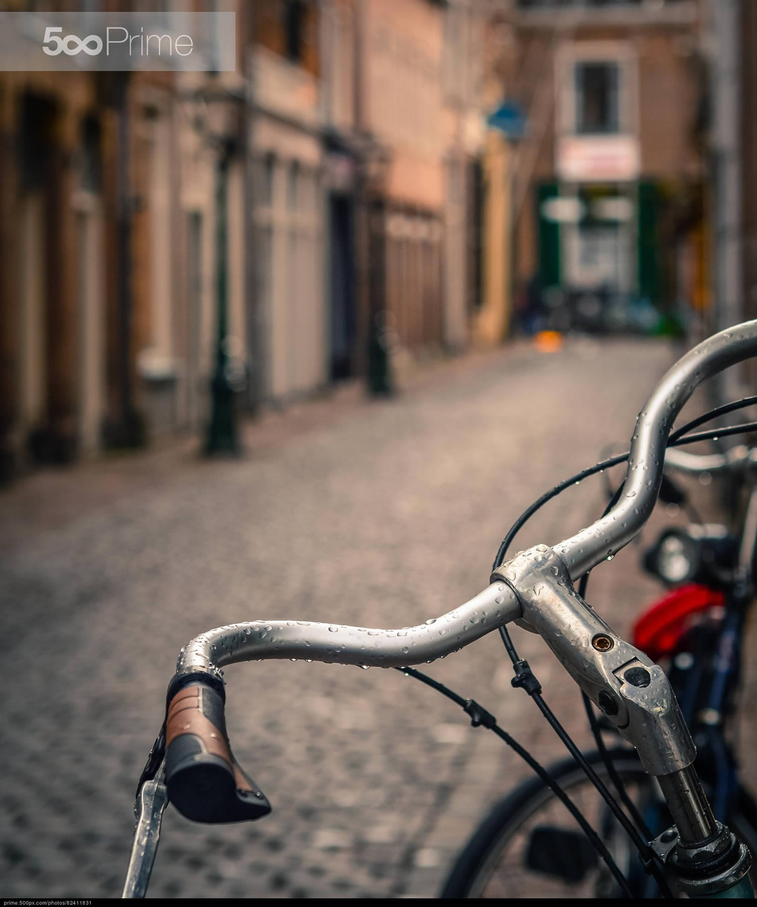 bicycle riding in european city