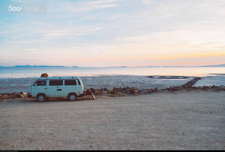 surf van near beach