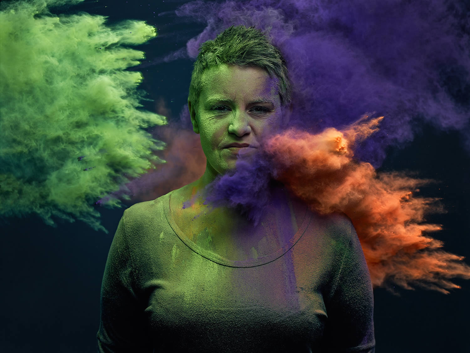 colorful powder, Ars Thanea Portraits