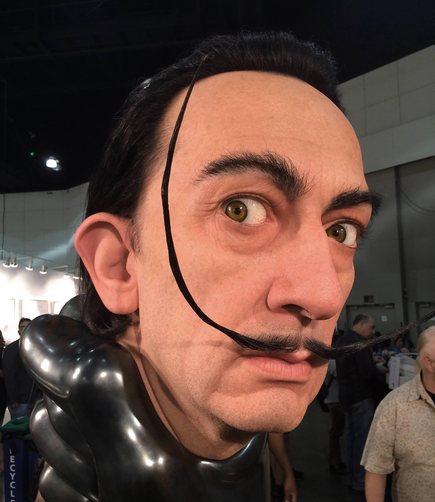 salvador dali, hyperrealist sculpture by Kazuhiro Tsuji