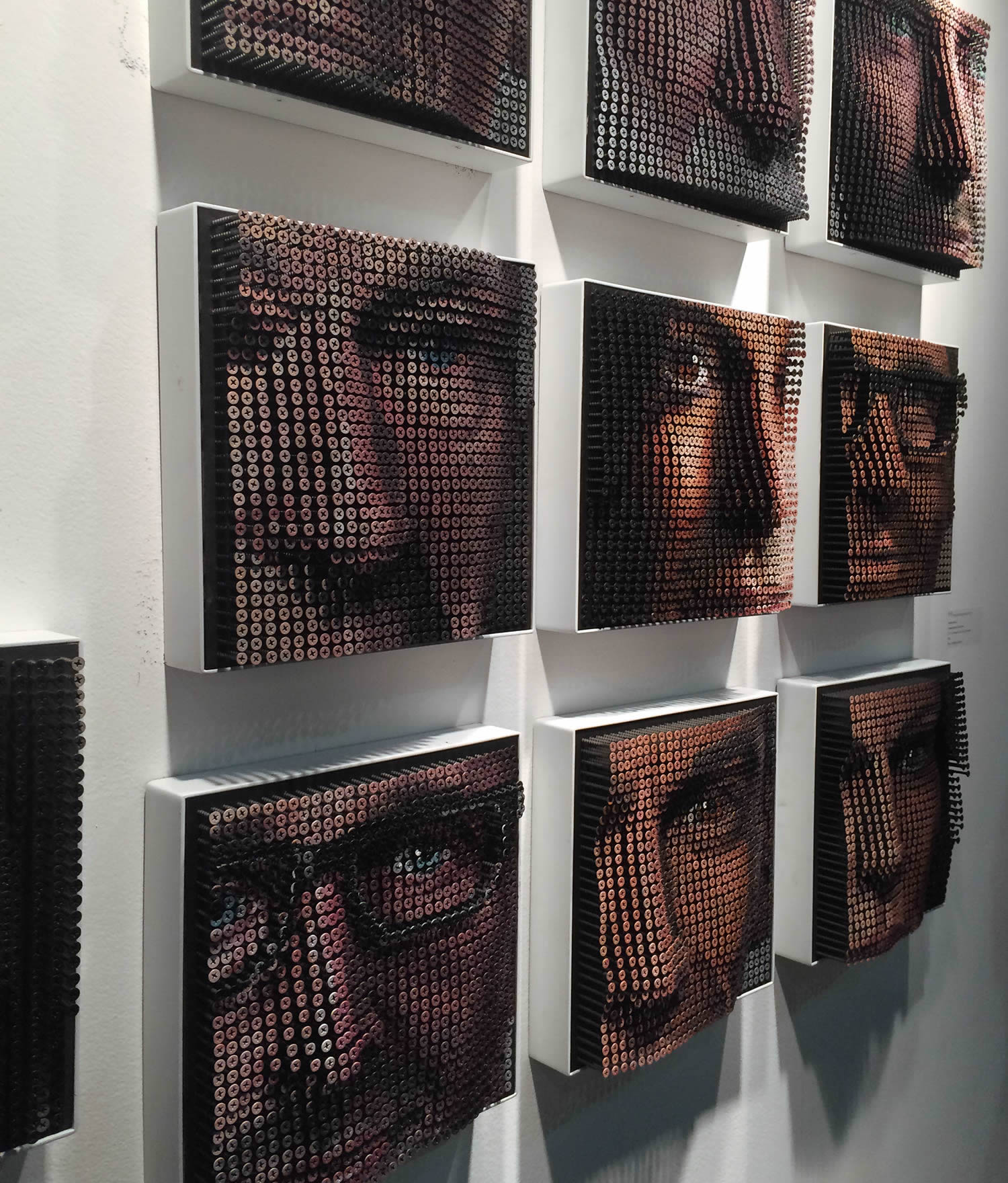 portrait art made from screws by andre myers