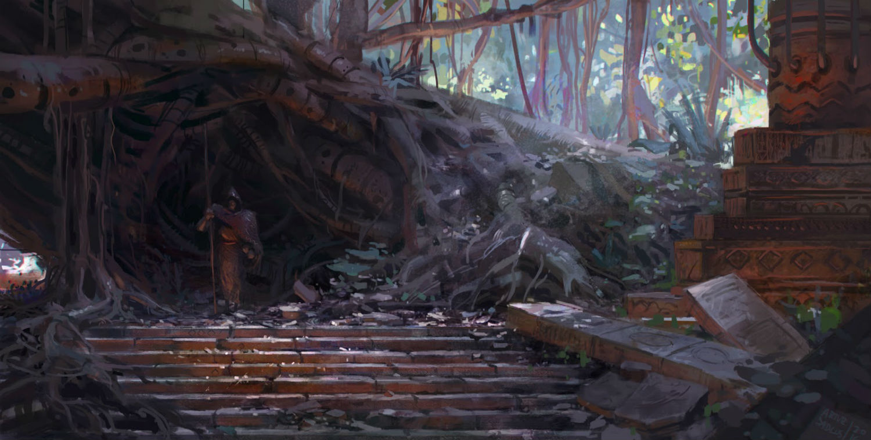 artur sadlos fantasy landscape digital art