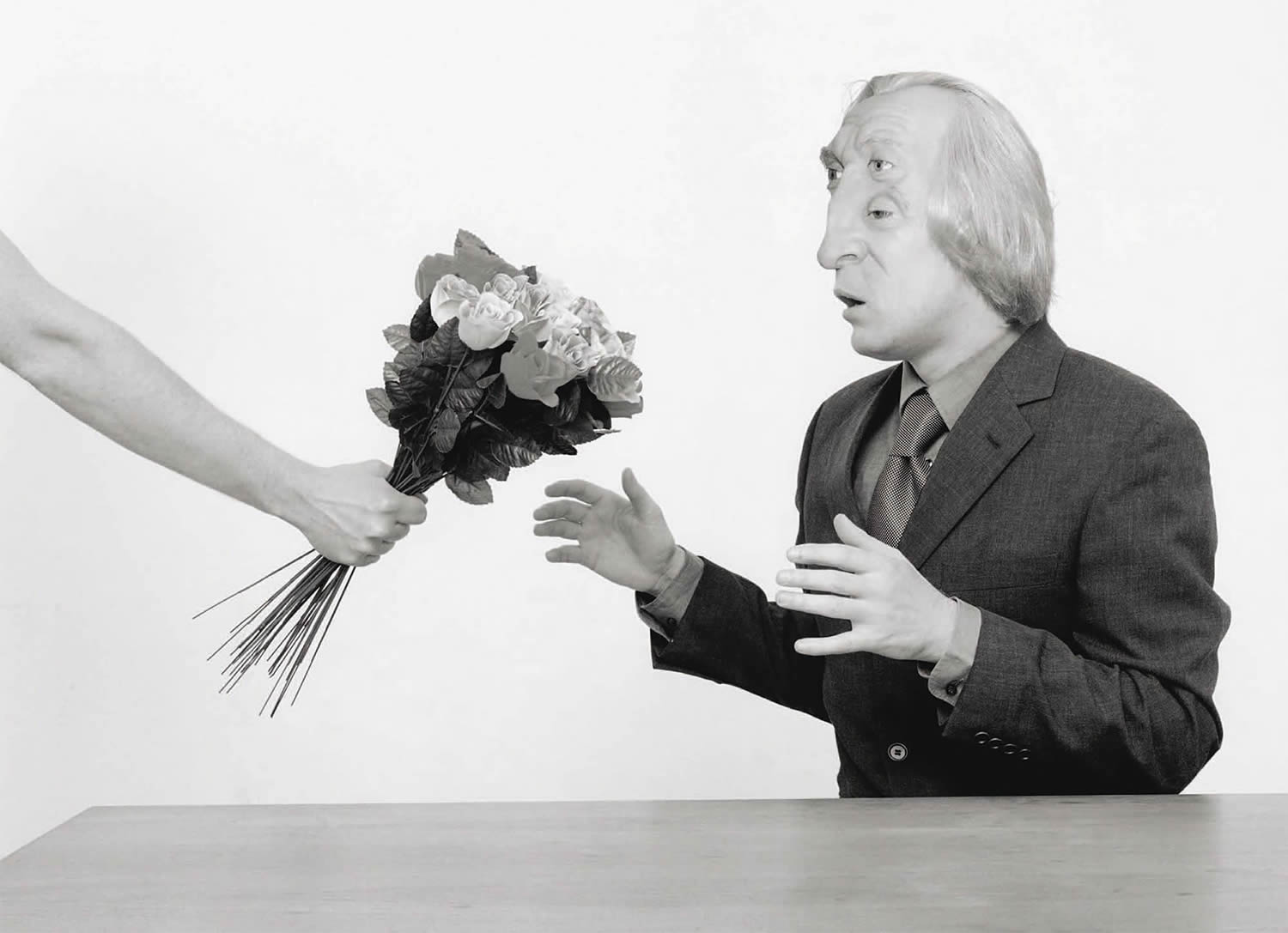 asger carlsen black white photography abstract body flowers