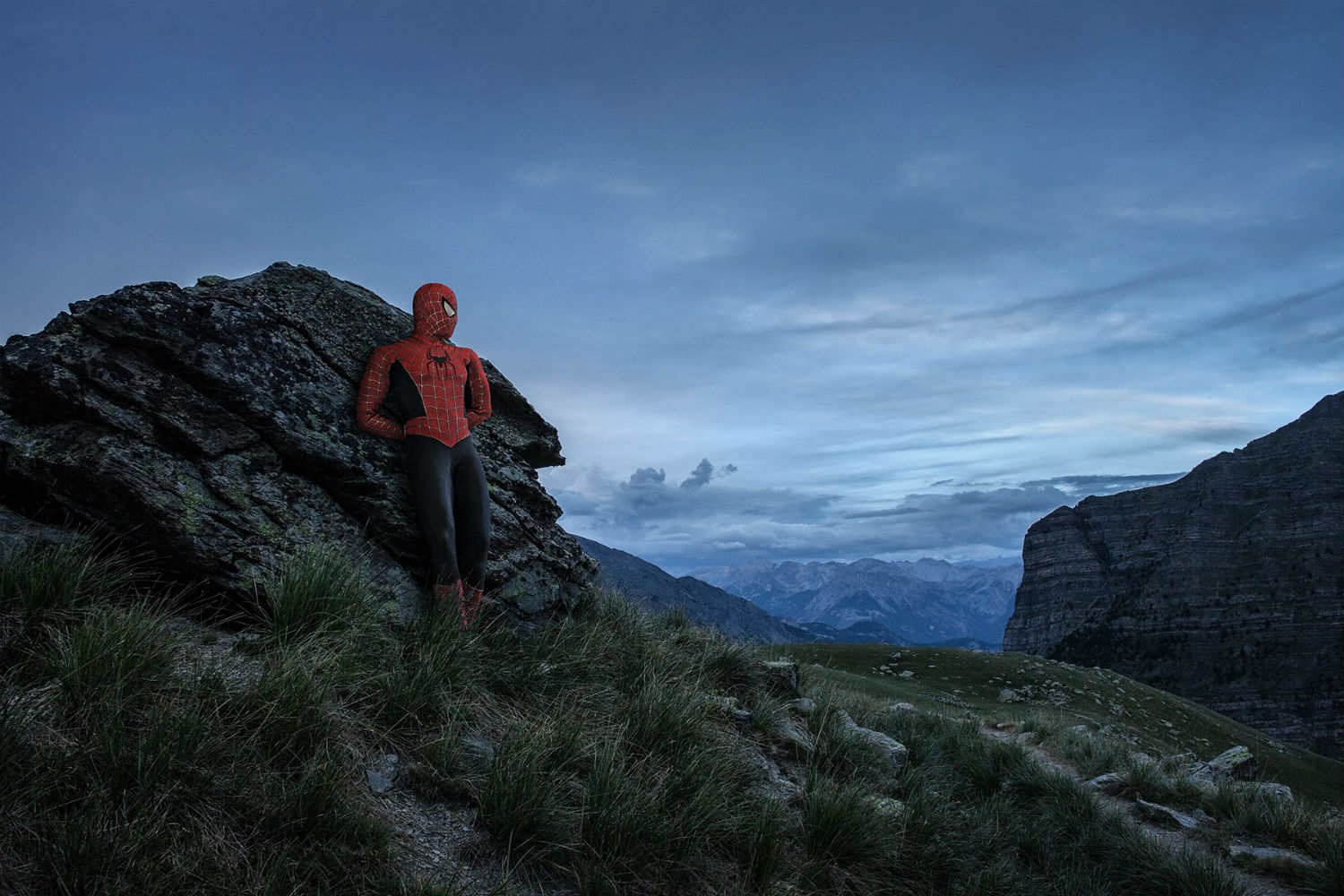 benoit lapray superheroes photography nature solitude spiderman