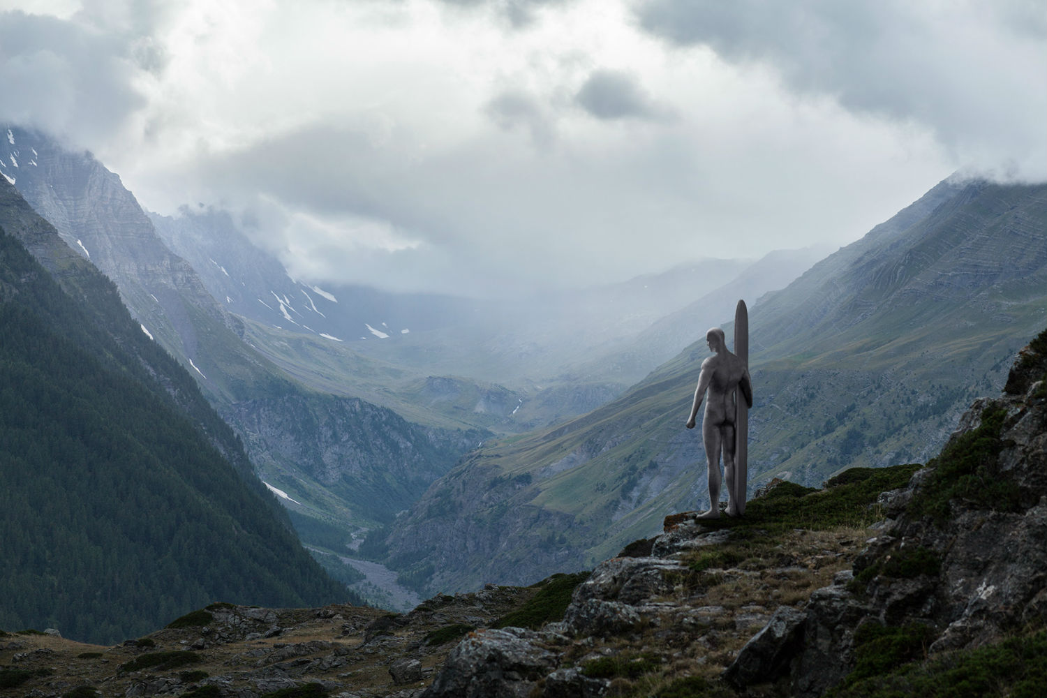 benoit lapray superheroes photography nature solitude silver surfer mountain