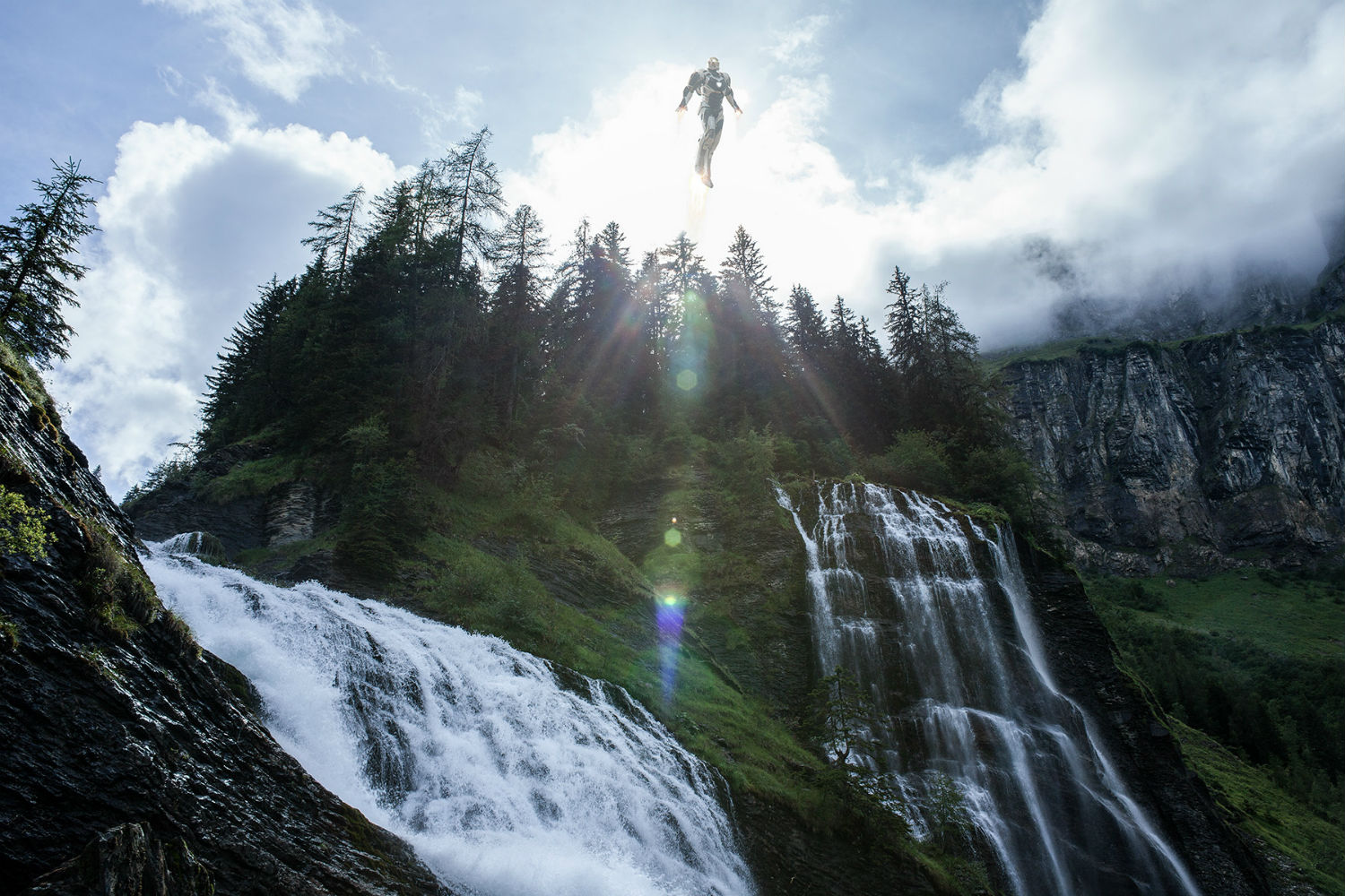 benoit lapray superheroes photography nature solitude waterfall