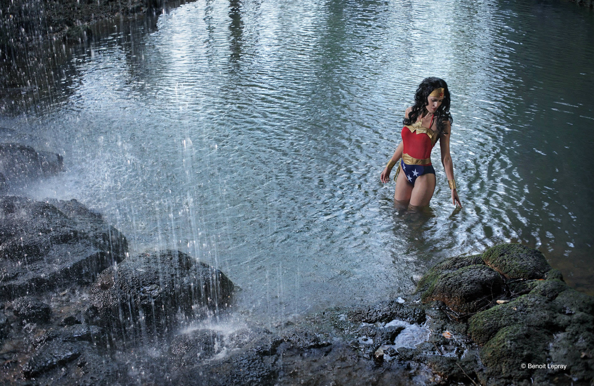 benoit lapray wonder woman waterfall