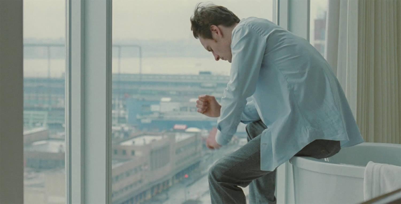 michael fassbender in hotel room, in shame