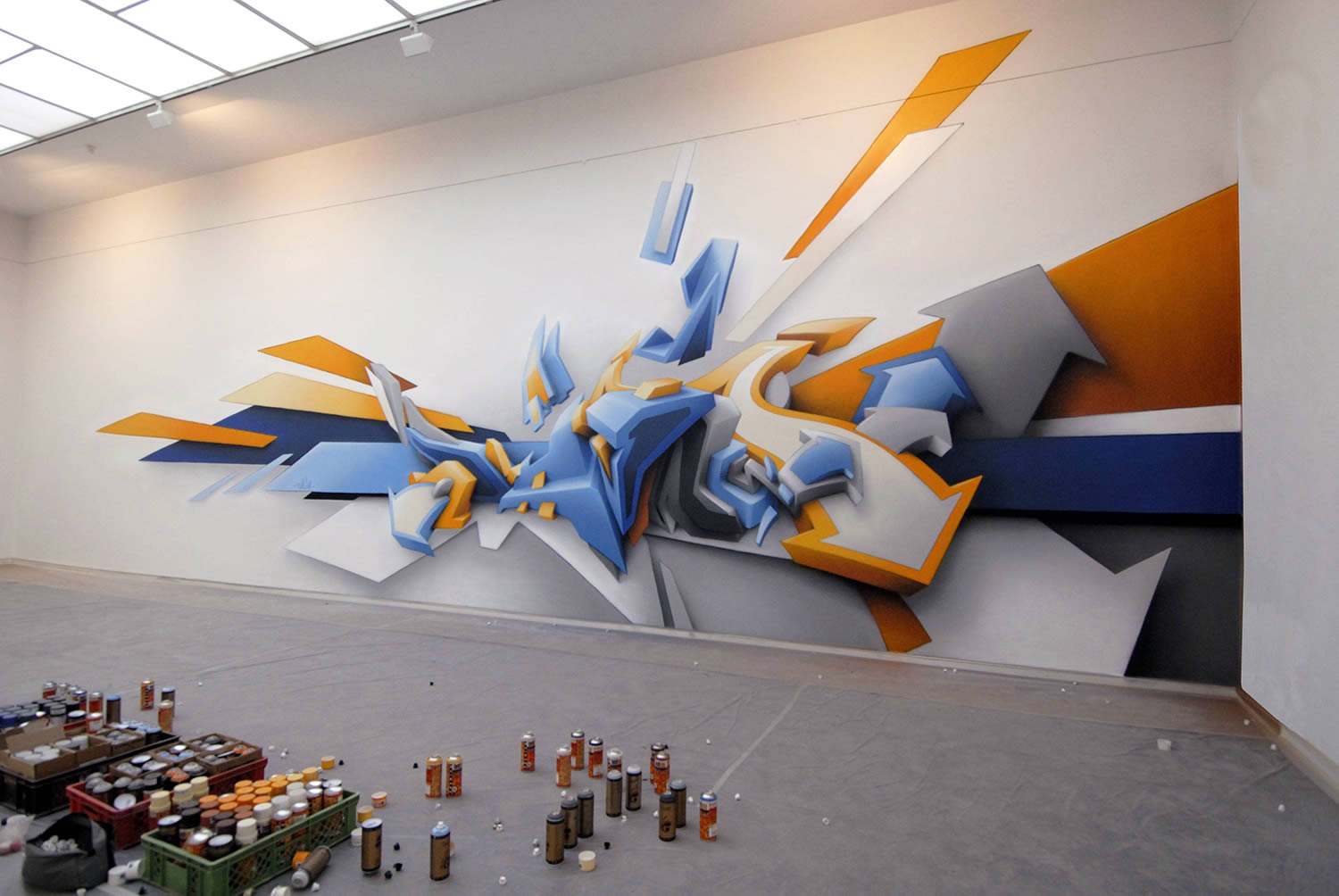 3d indoor mural by daim