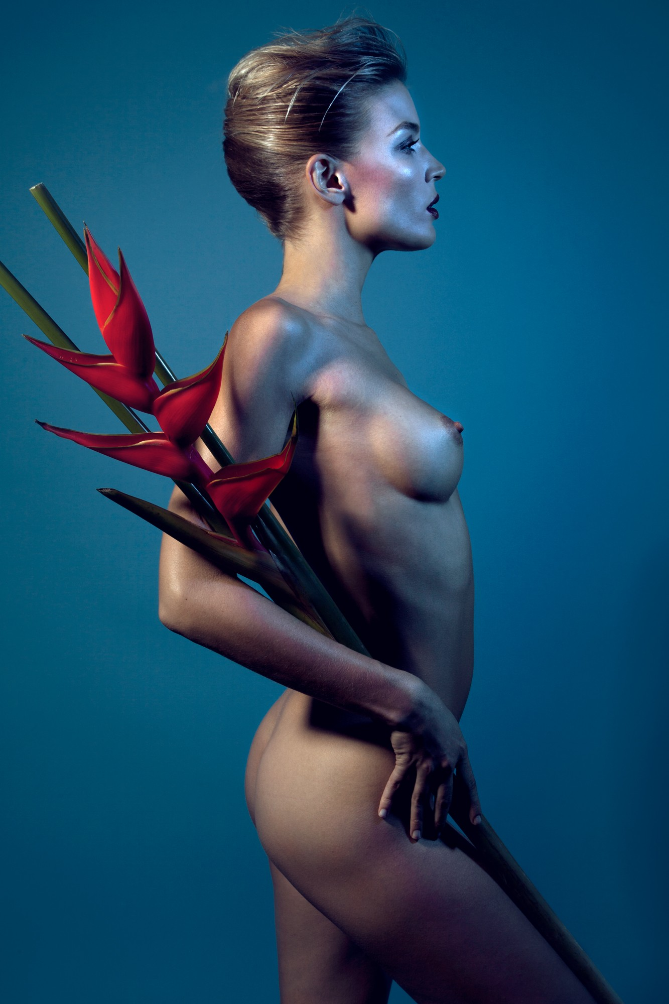 Maggie West photography flowers erotic colour