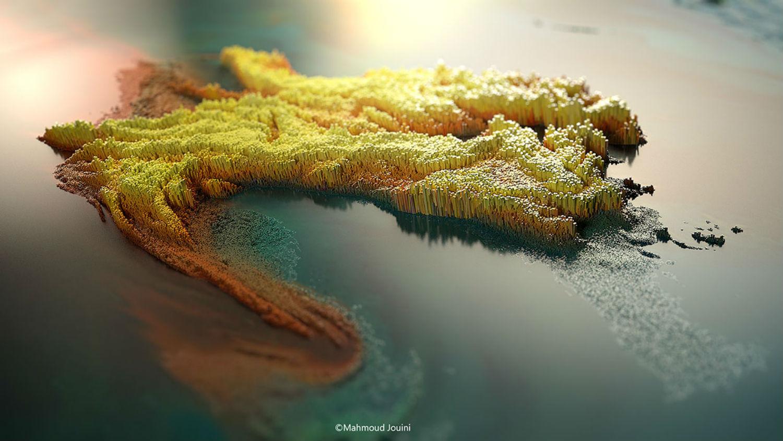 mahmoud jouini digital art colour cities pixels