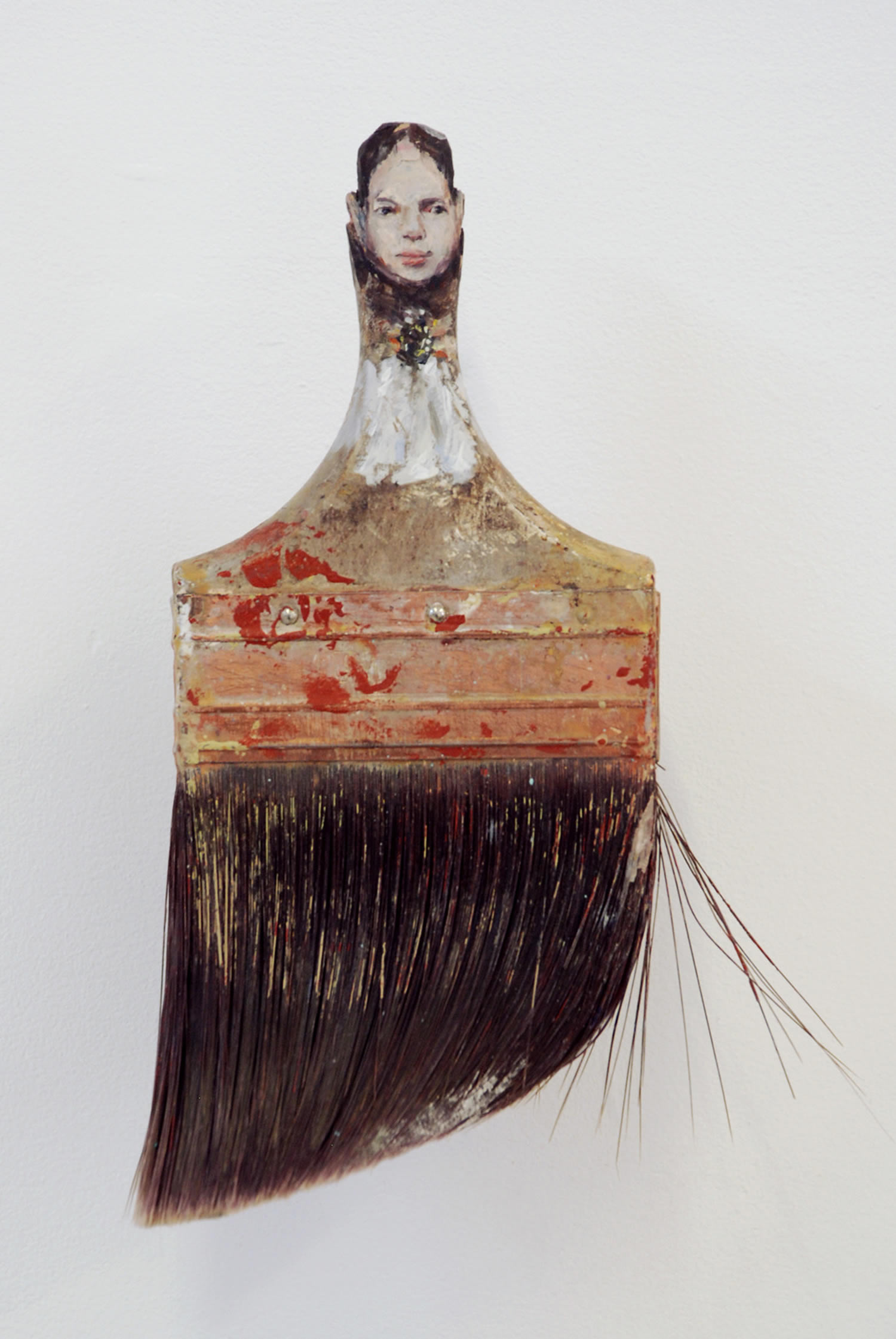paintbrush portrait by Rebecca Szeto
