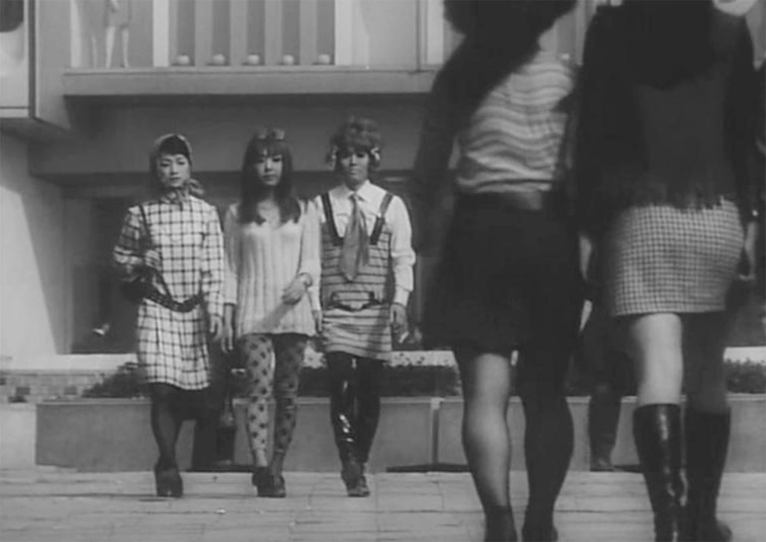 "Dressed up for a catfight in ""Funeral Parade of Roses"" (1969) © Matsumoto Productions/Art Theatre Guild of Japan Co., Ltd."