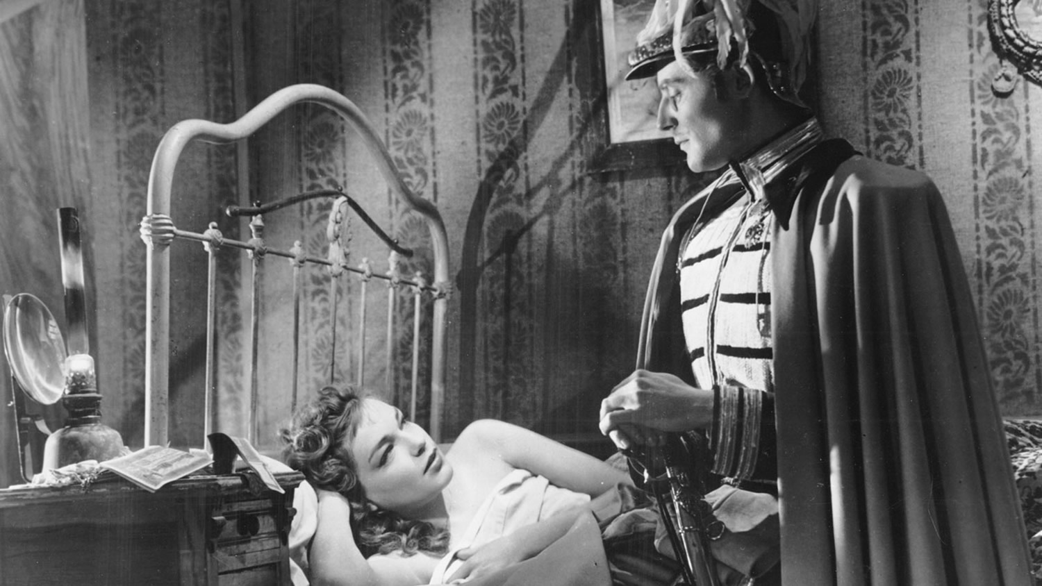 "A bedroom scene in ""La Ronde"" (1950) © Sacha Gordine/Janus Films."