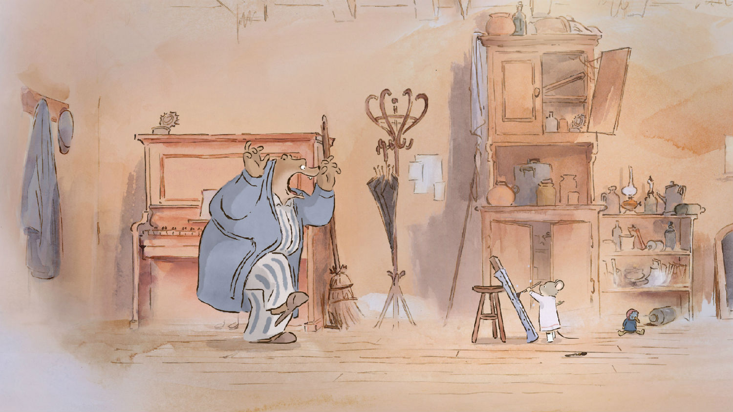 ernest and celestine animation bear hand drawn