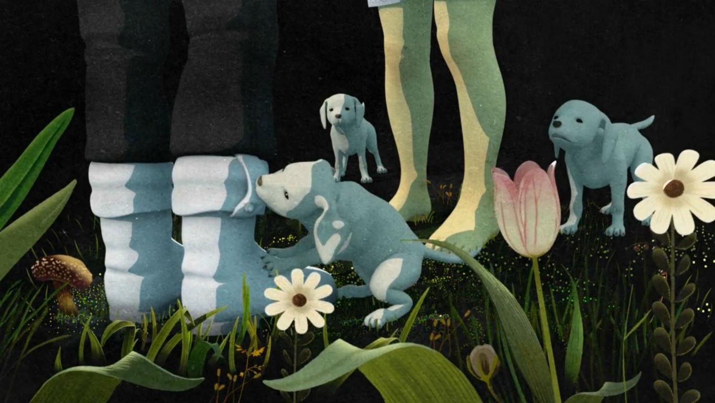 premier autumn animation puppies flowers