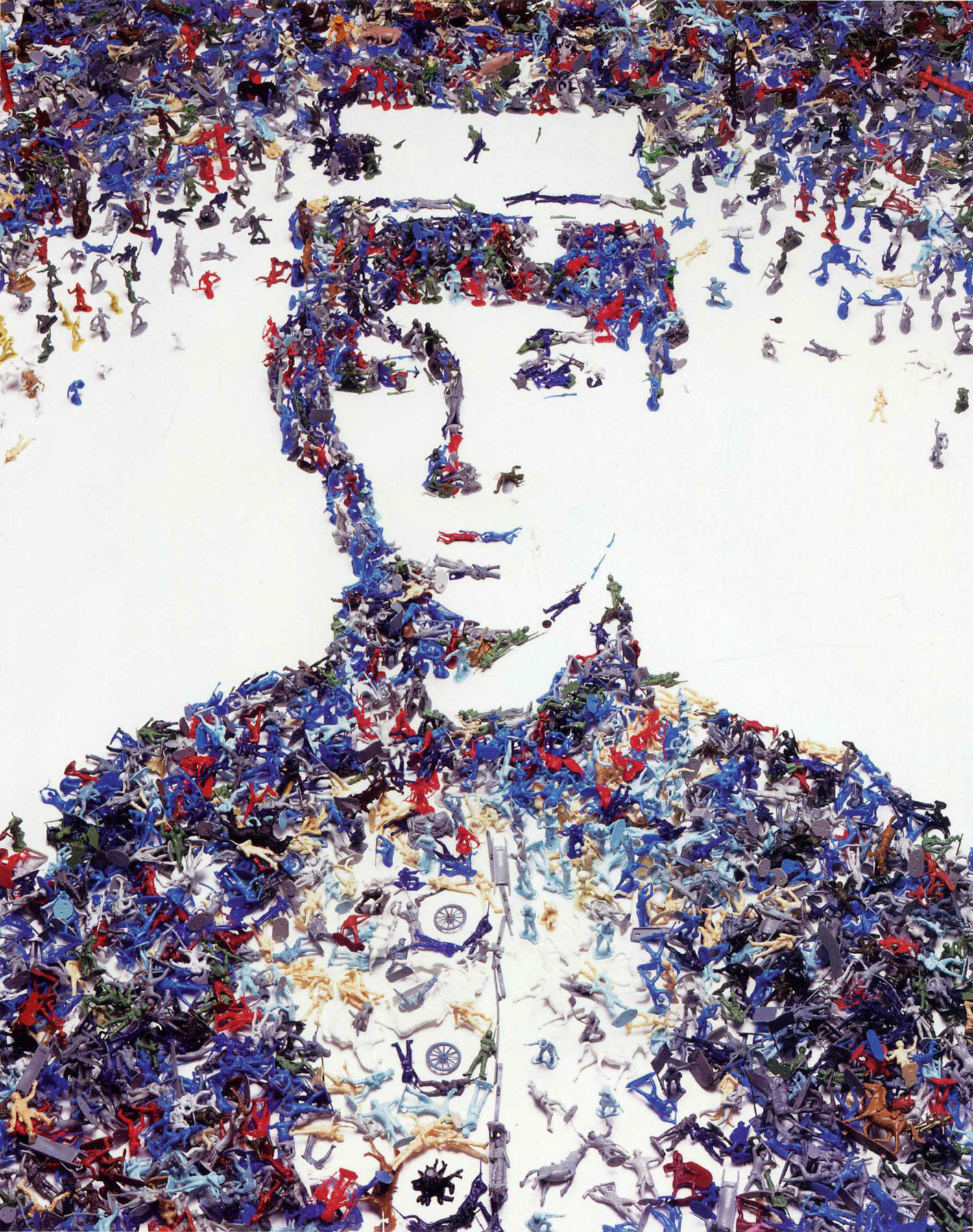 Vick Muniz art collage portrait soldier