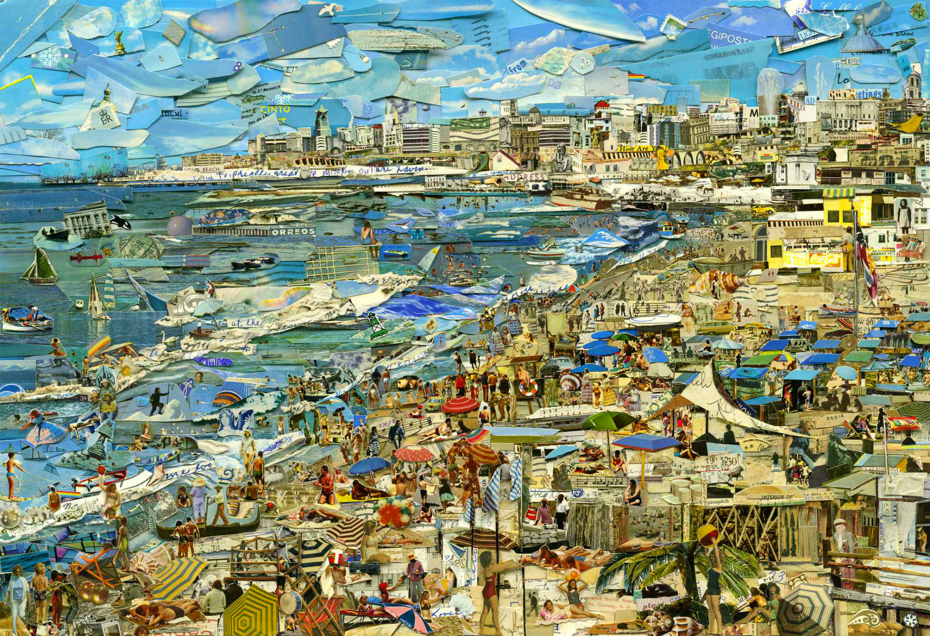 Large-scale Collage Pieces by Vik Muniz