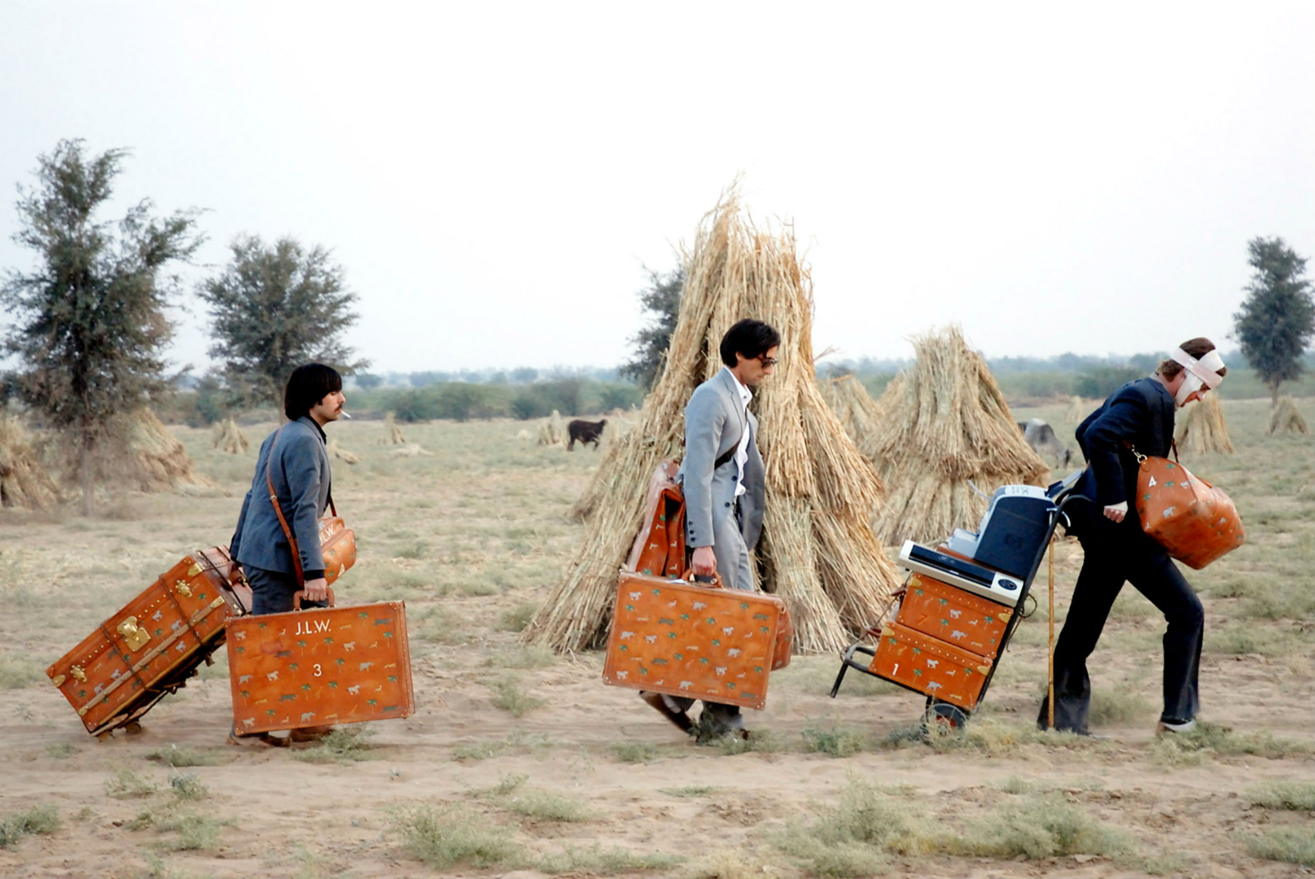 the dajeeling limited wes anderson india suitcases