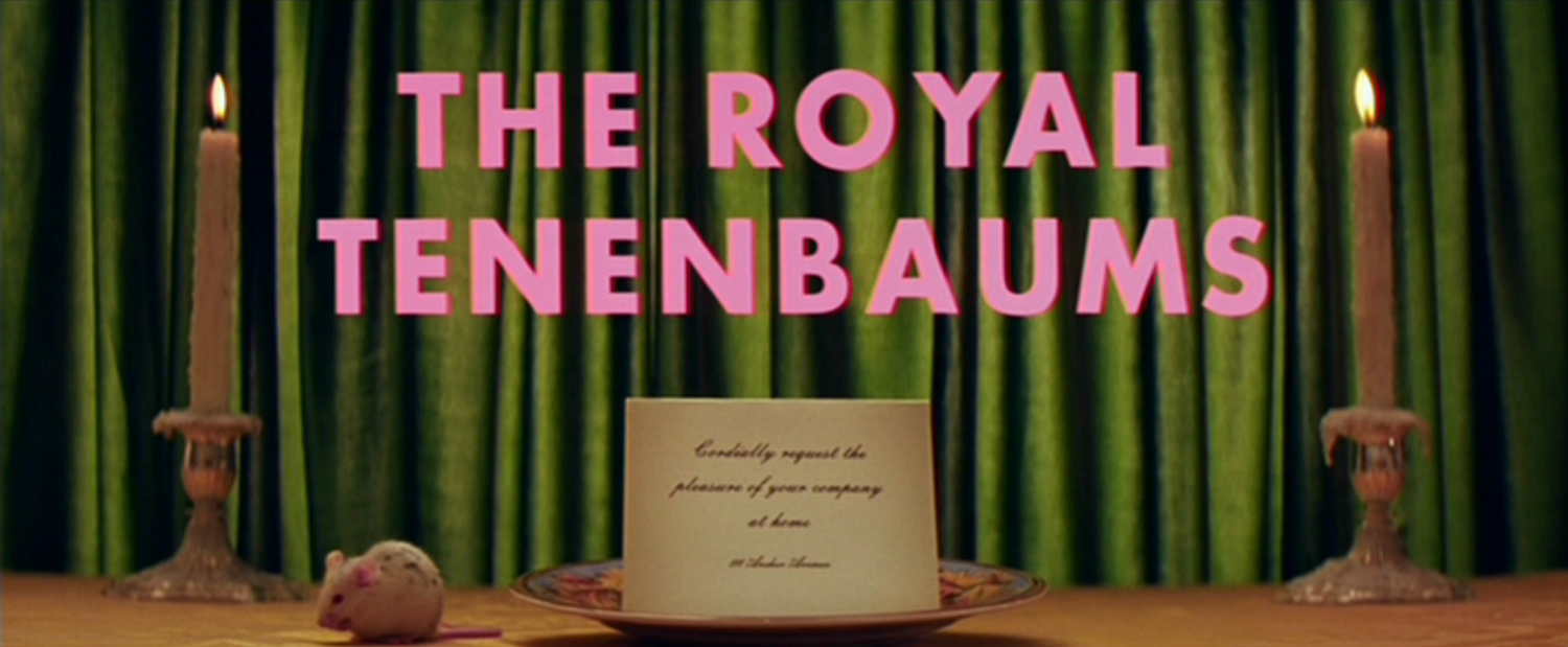 the royal tenembaums wes anderson typeface pink