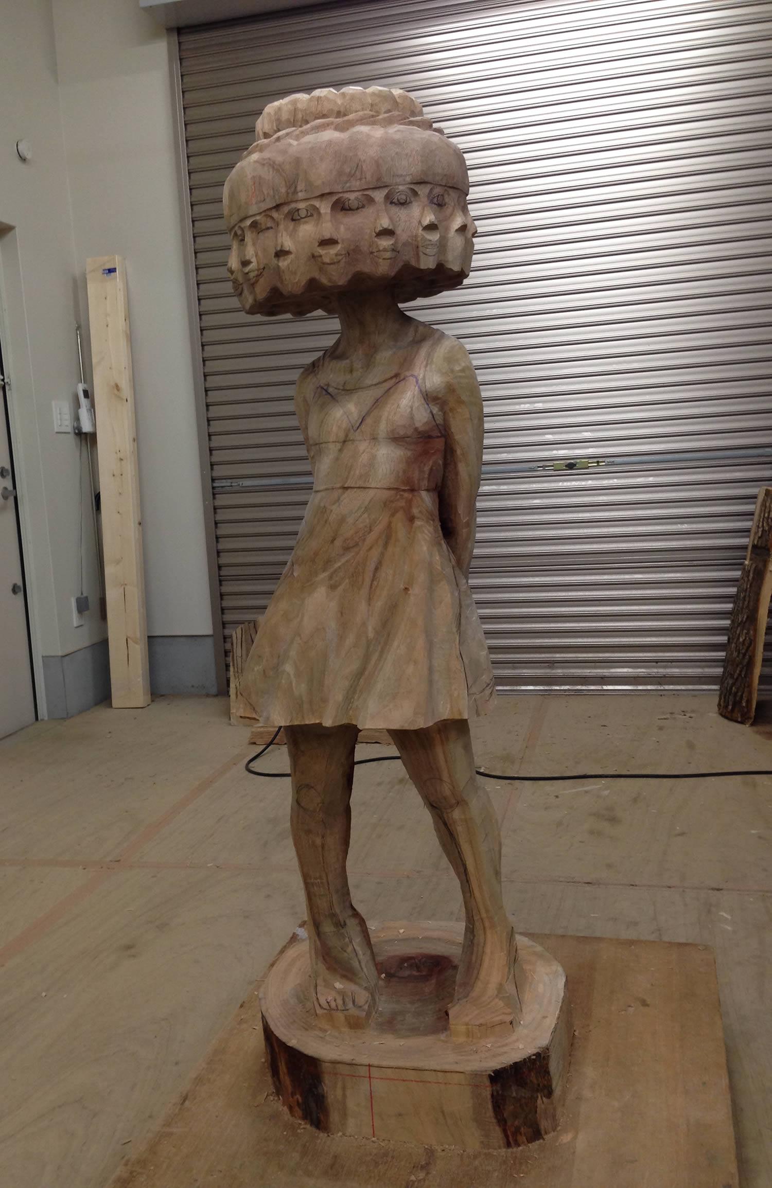 wood sculpture in progress
