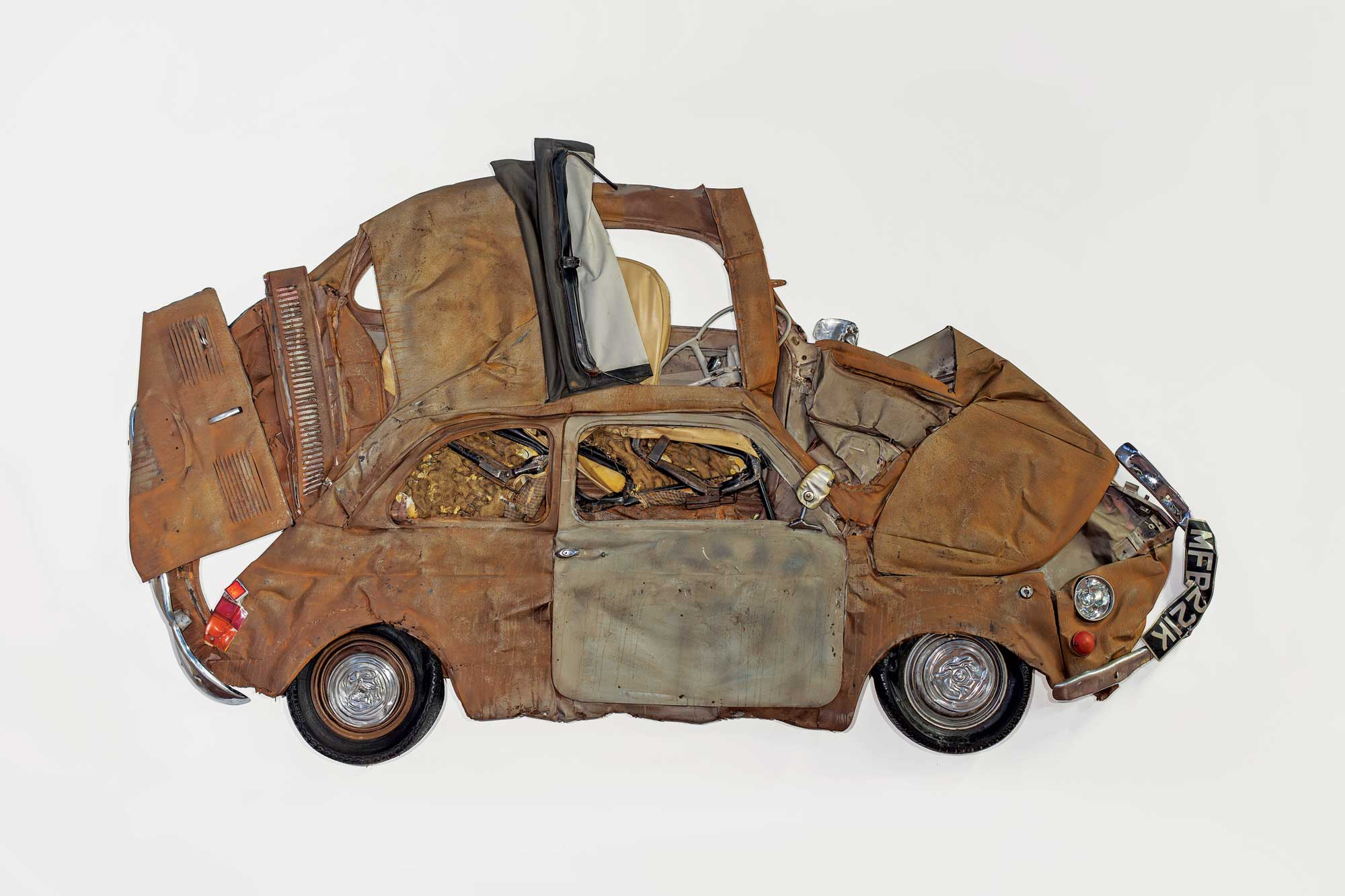 Ron Arad's Brown Flattened Fiat Car Sculpture