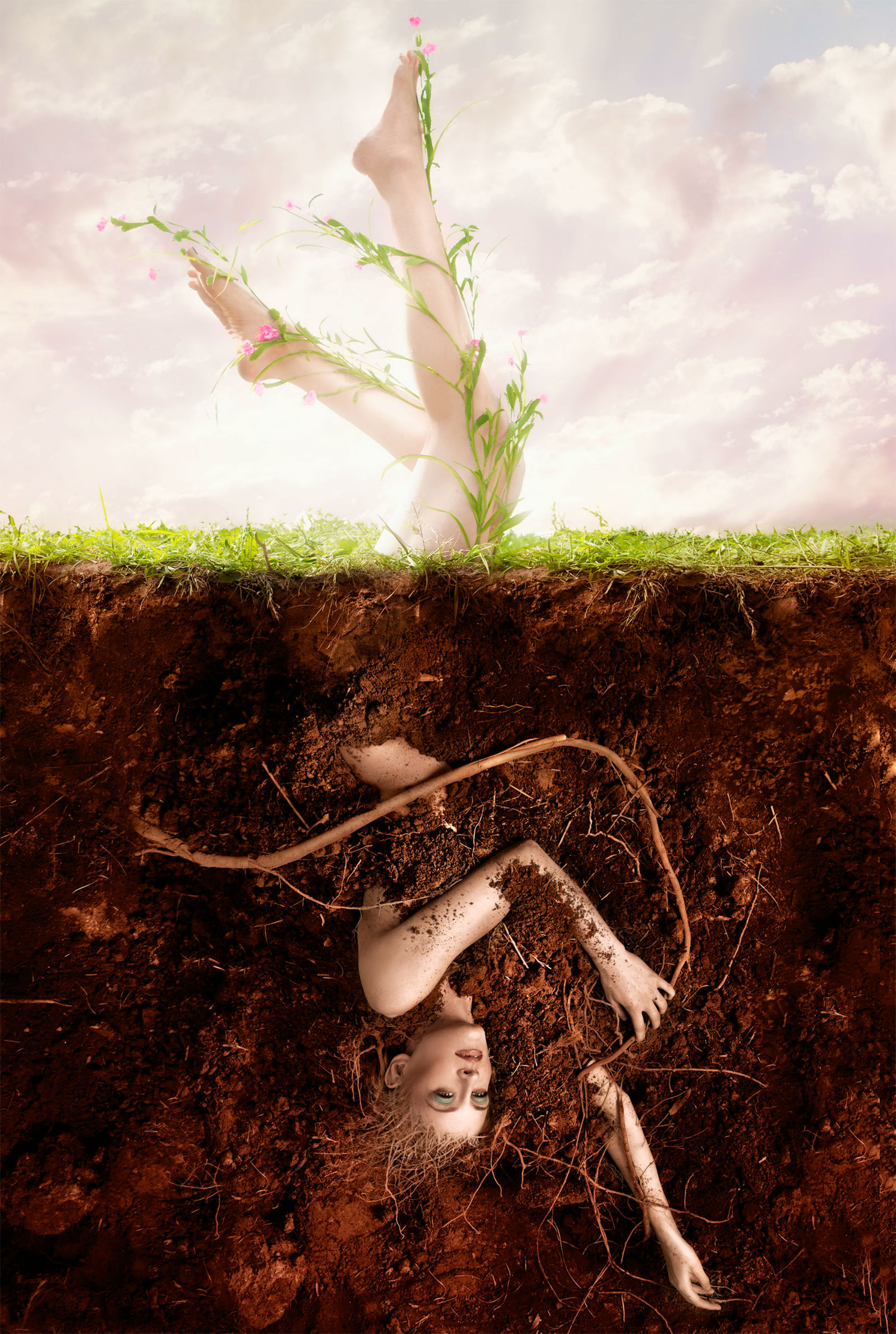 aaron nace photography digital colour surreal model plant earth