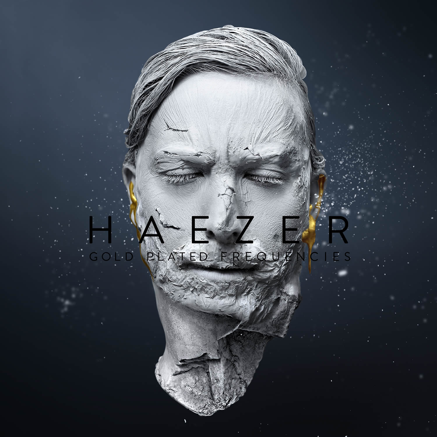 Haezer - Gold Plated Frequencies Album Art by Chris Slabber