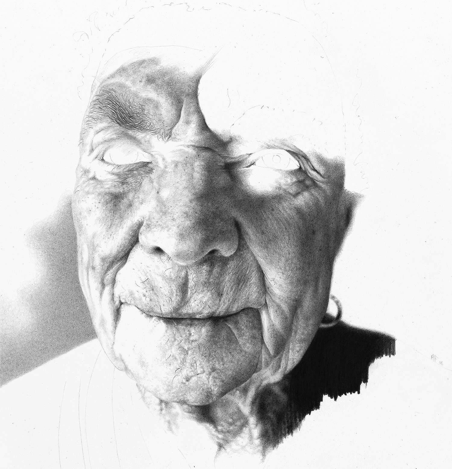 wip portrait by antonio finelli