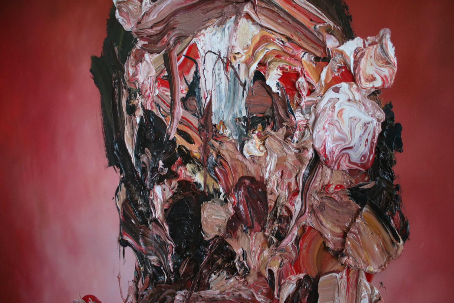 antony micallef painting english london self portrait abstract face