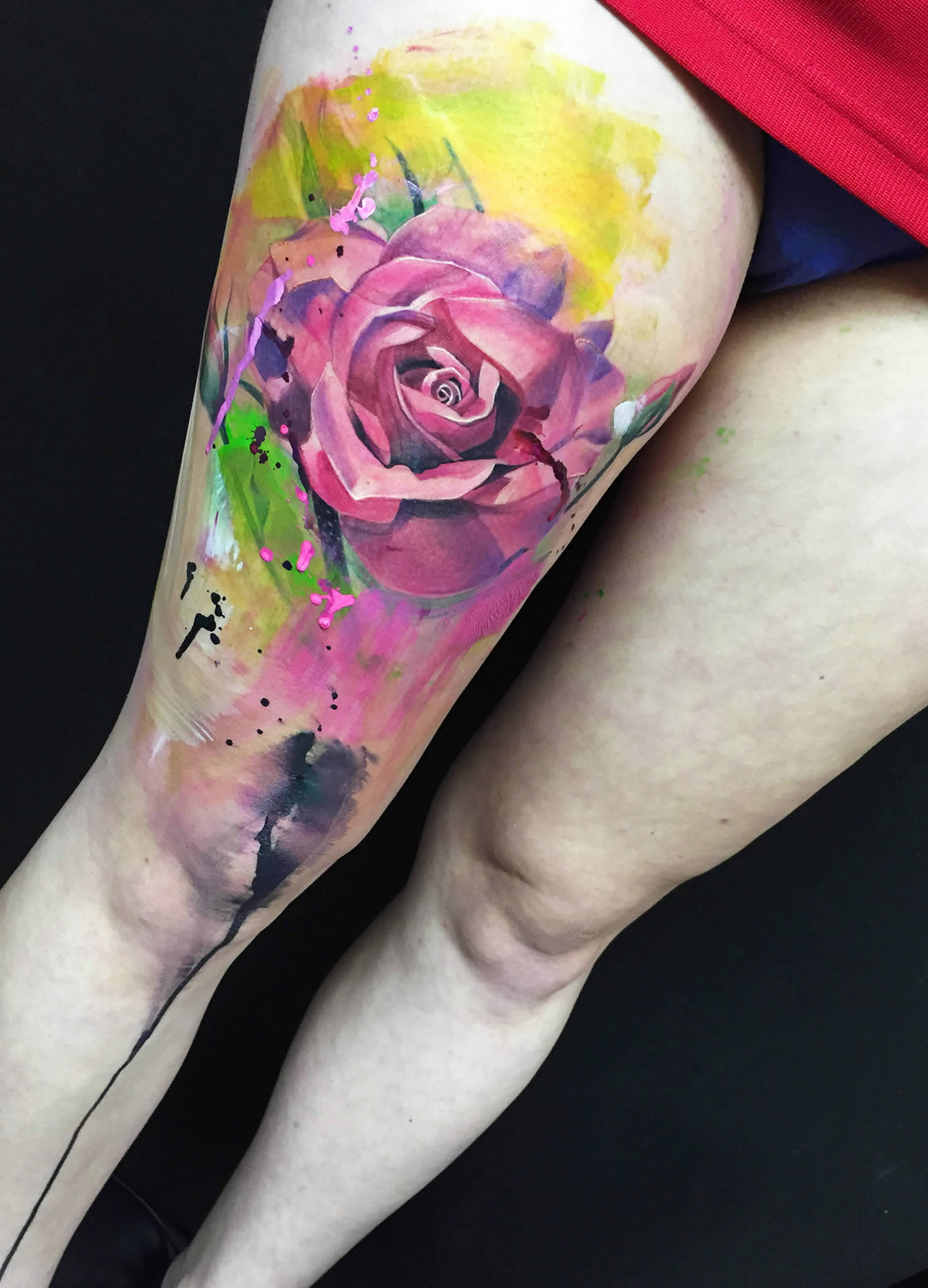 rose tattoo by ivana