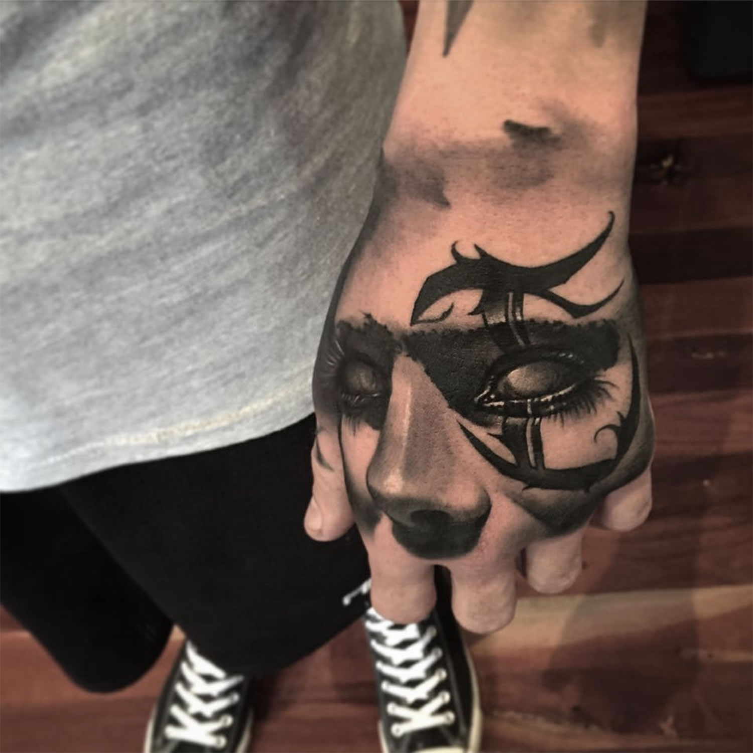 3d Face tattoo by Benjamin Laukis