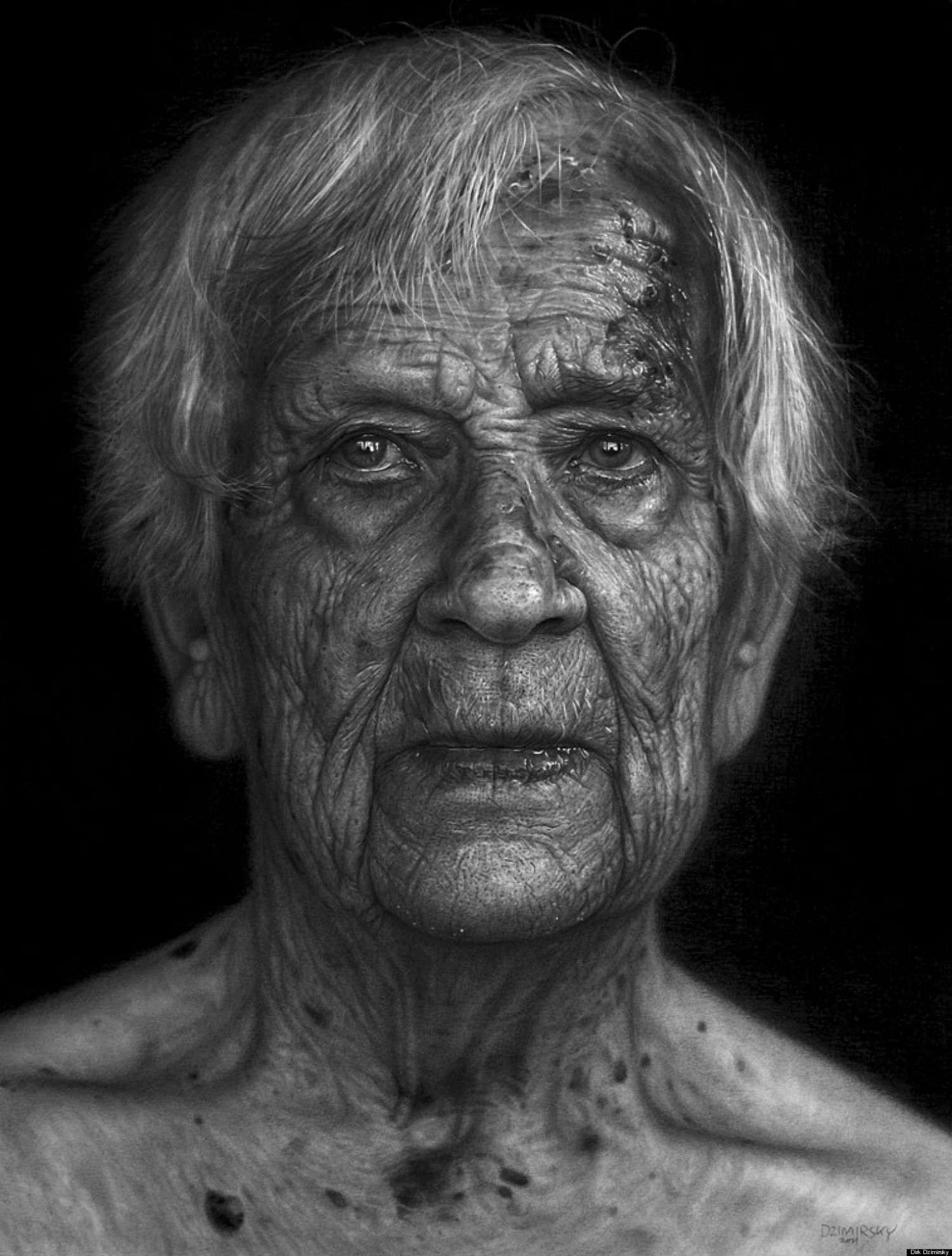 dirk dzimity hyperrelaism pencil black and white