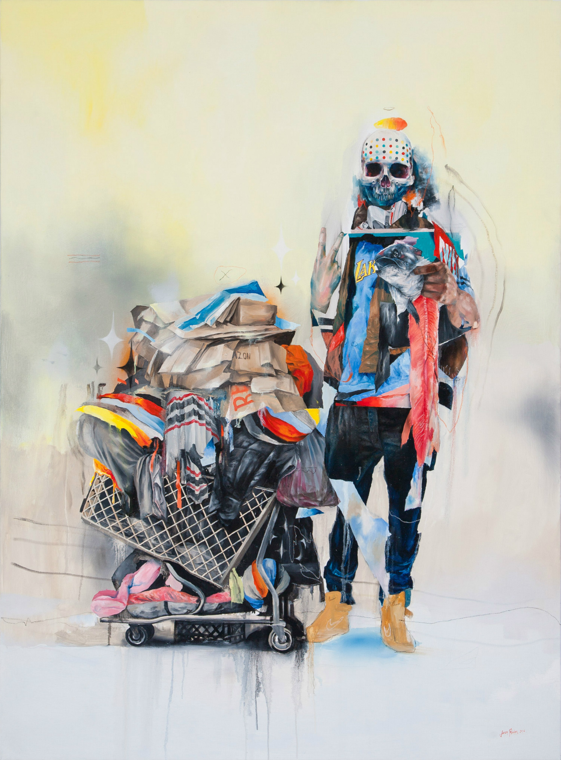 joram roukes dutch artist colour animals car abstract skeleton