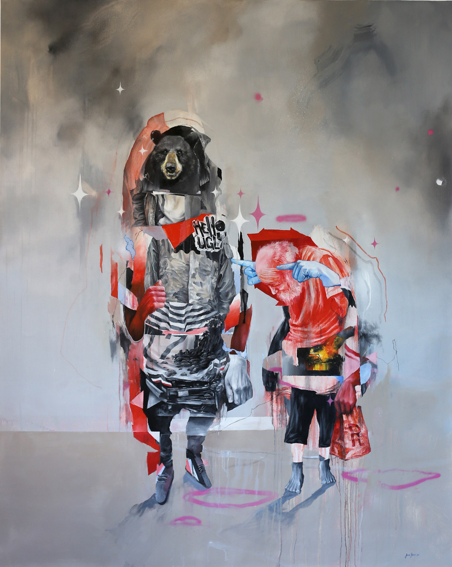 joram roukes dutch artist colour animals car abstract