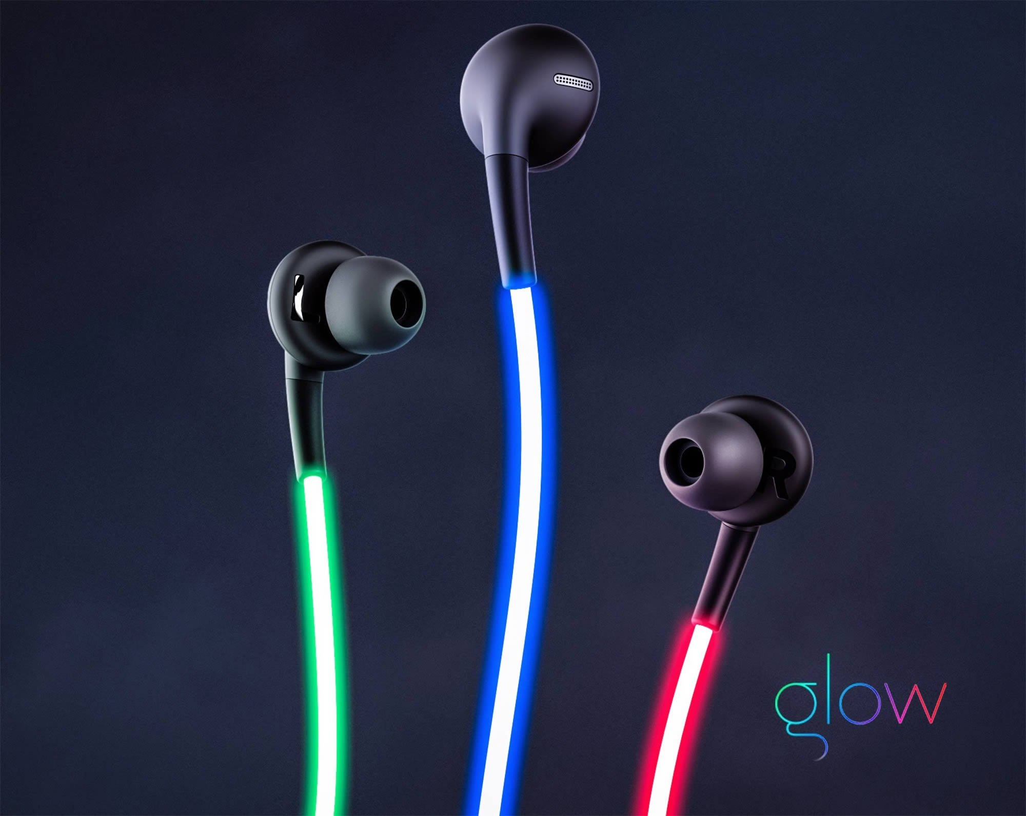 glow laser light headphones