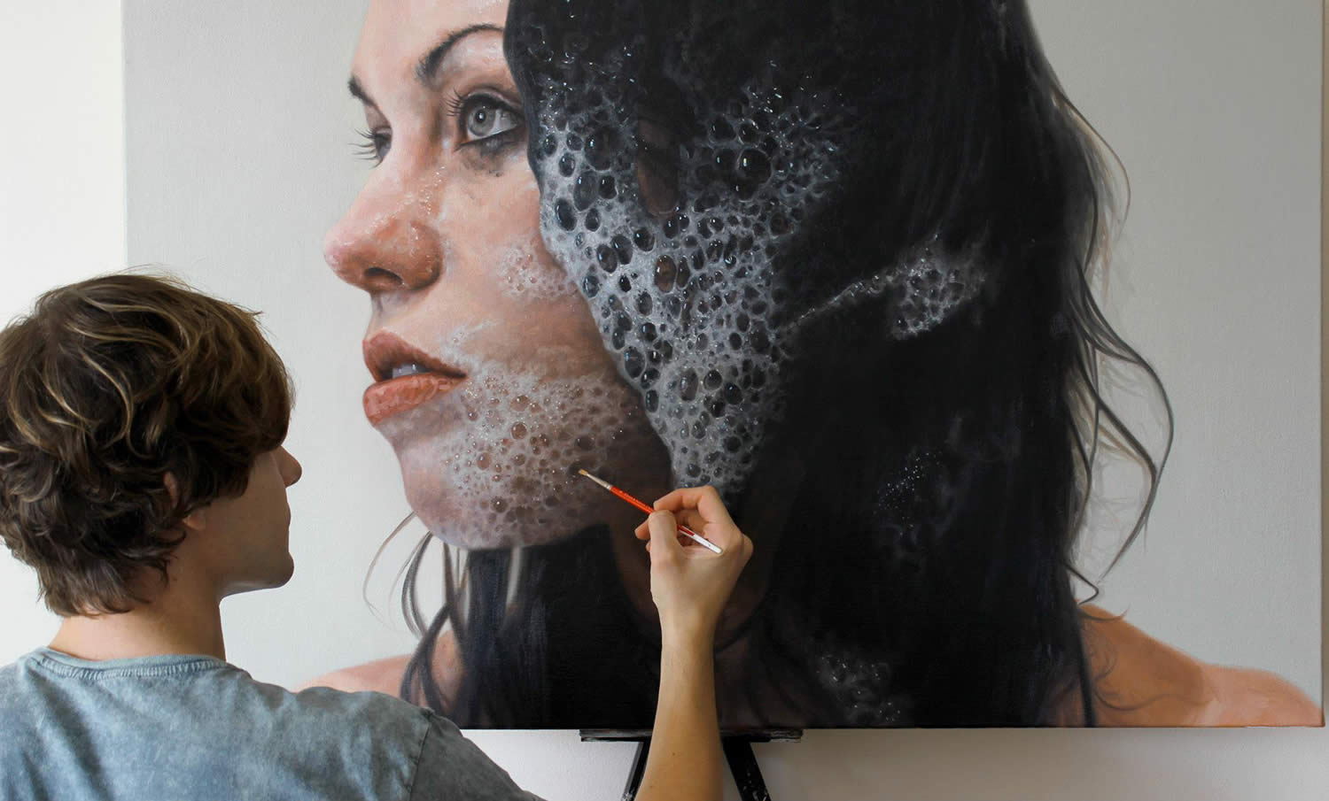 hyperrealist portrait of woman