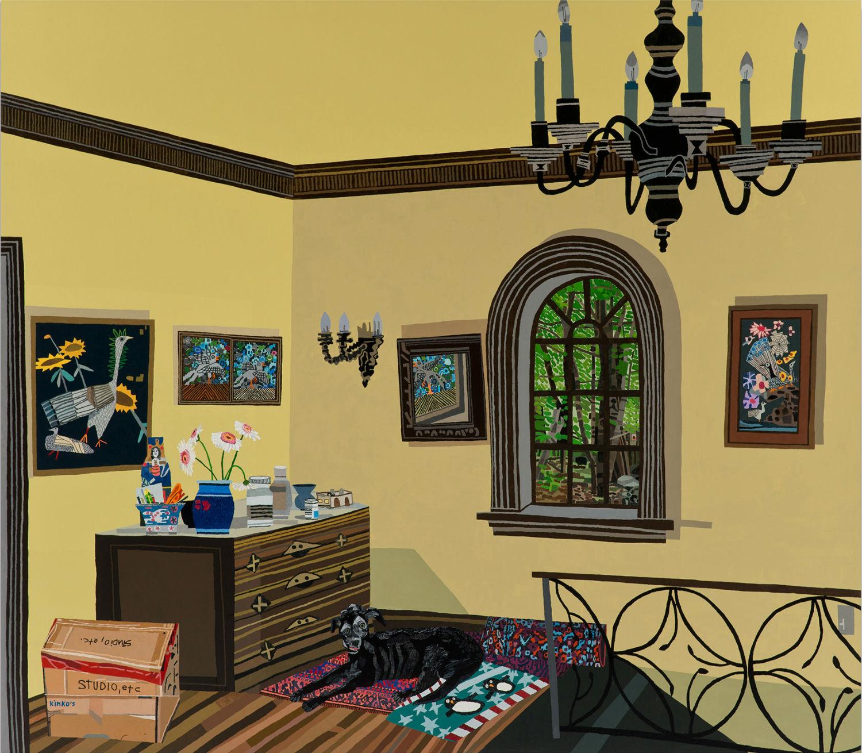la artists contemporary art jonas woods space interiors painting