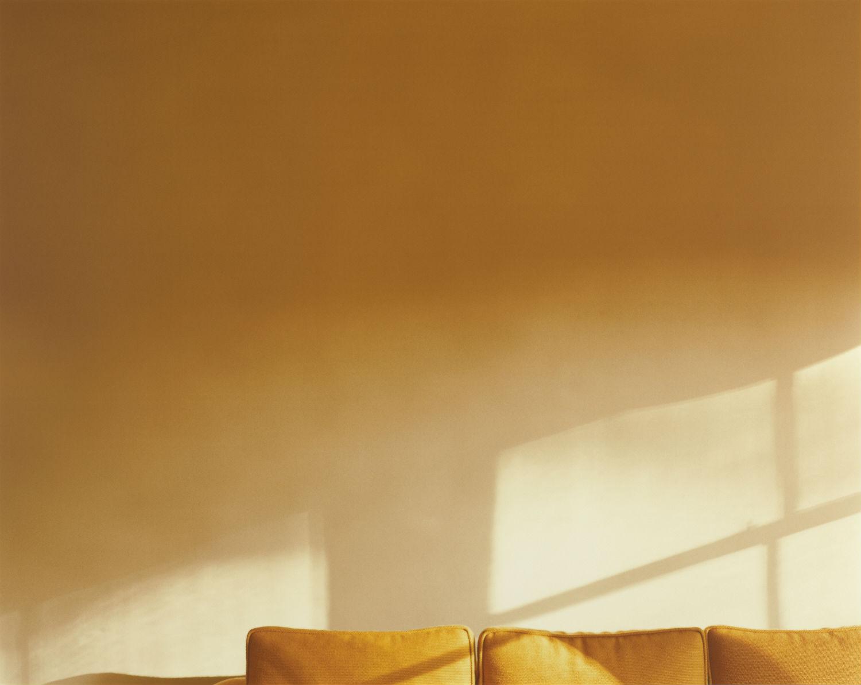 uta barth colour photography light golden sofa