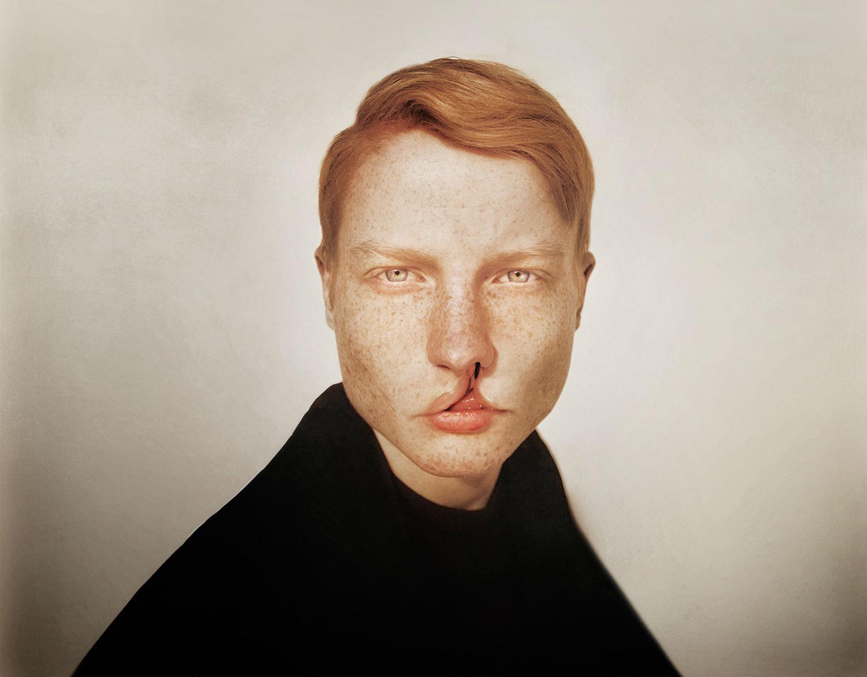 marwane pallas photographing graphic portraits body horror lip