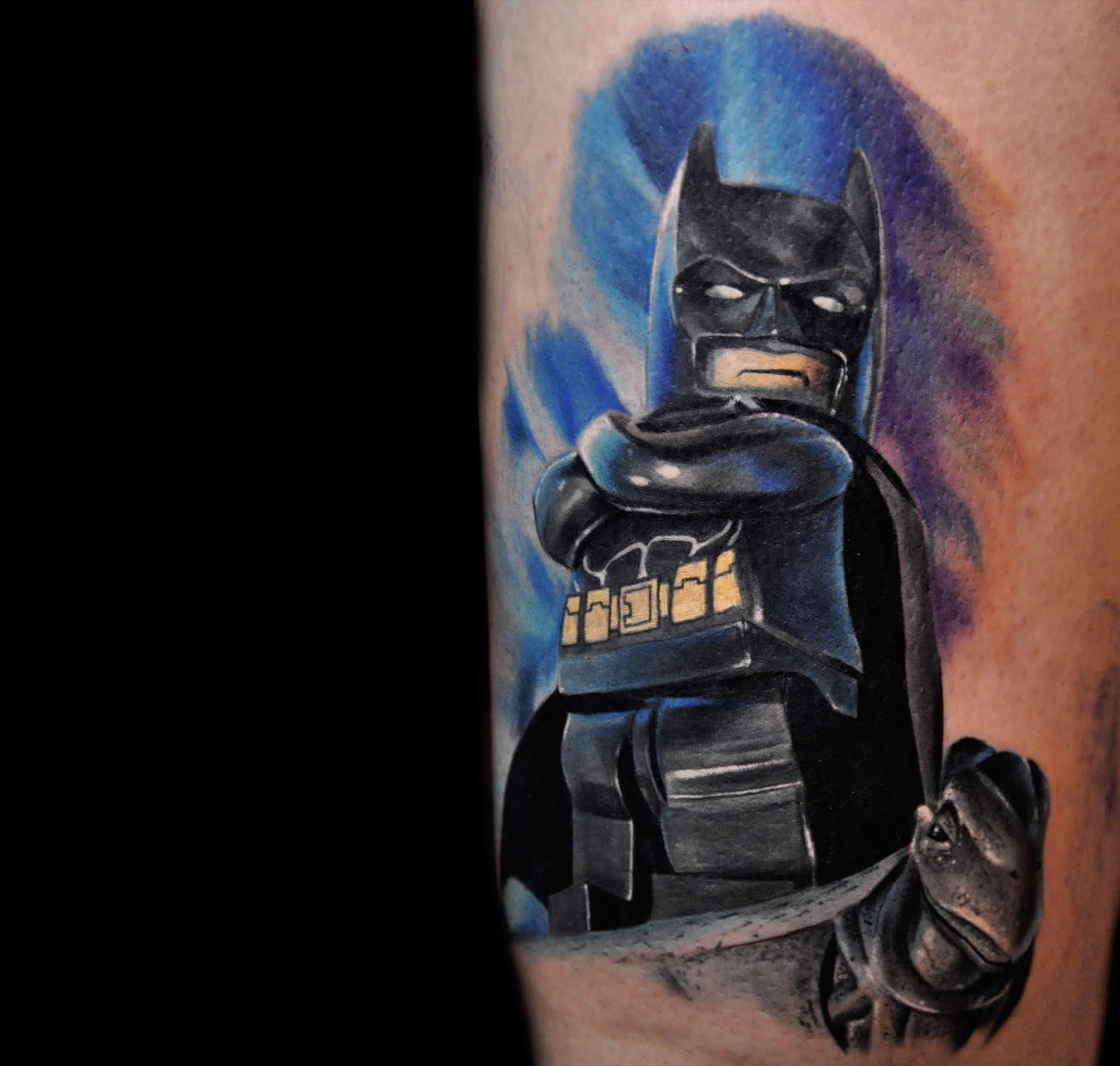 batman legoman tattoo