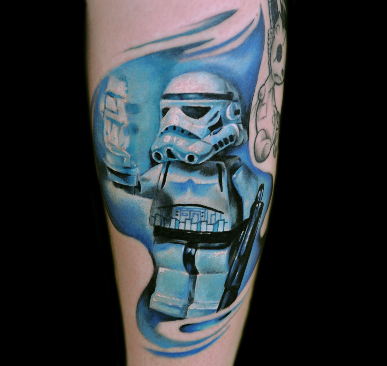 stormtrooper lego character tattoo