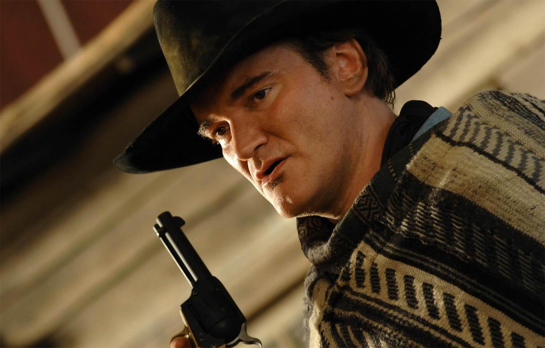 quentin tarantino as a cowboy