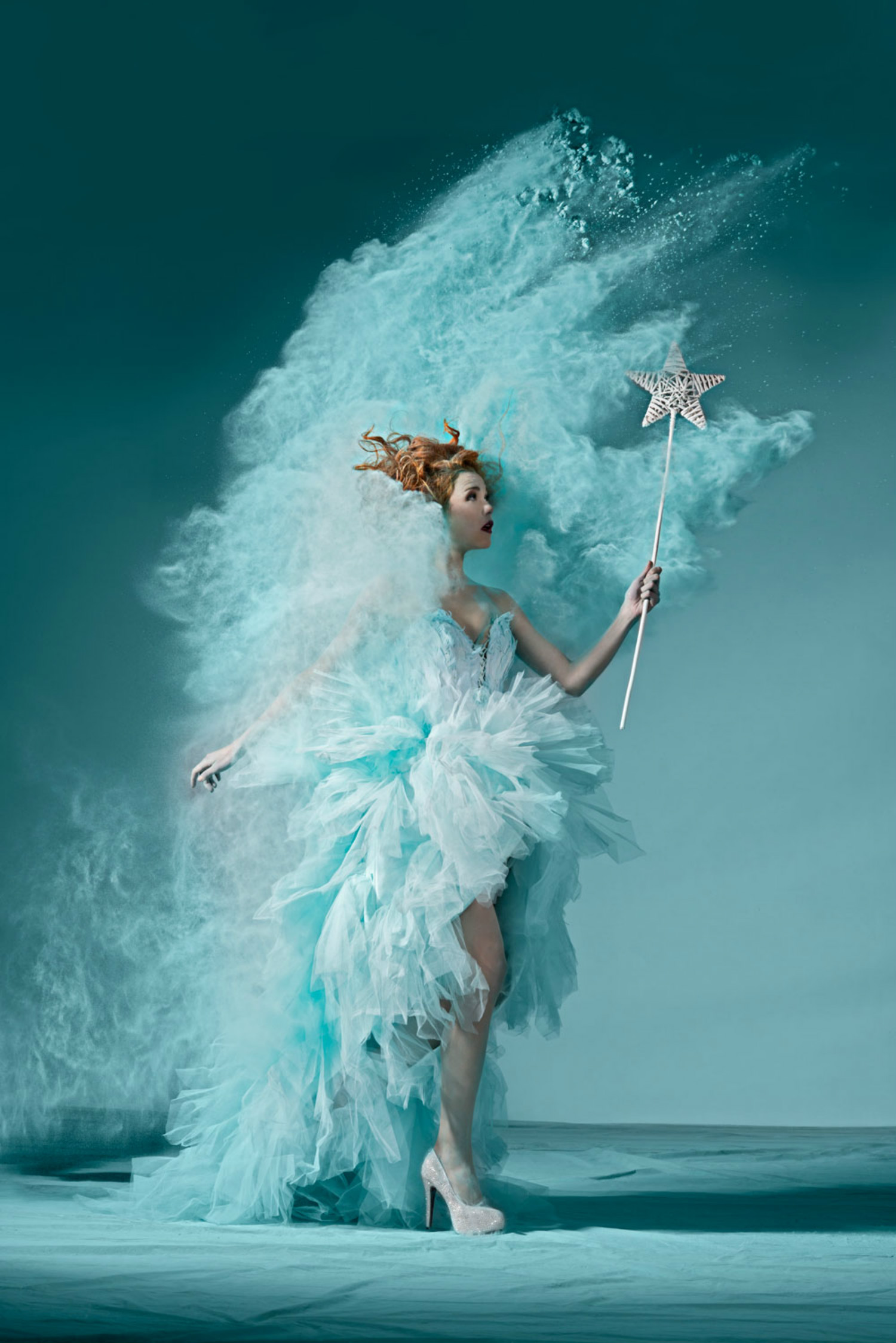 oliver oettli powder photography model fashion turquoise